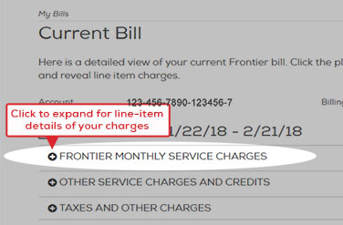 Click each section of your bill to expand and see the details.