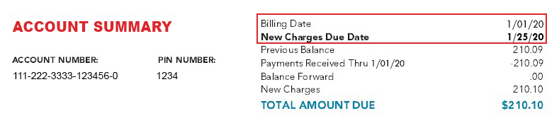 Billing Date Vs New Charges Due Date Explained Frontiercom - Invoice date meaning in english
