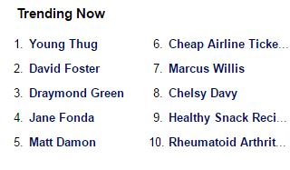 See what's popular on Yahoo now.