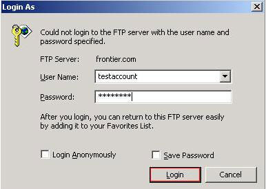 Log in to your Frontier account