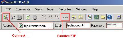 Be sure to disable Passive FTP